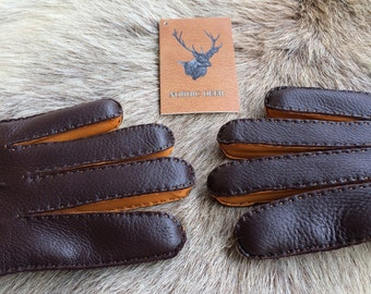 Winter leather gloves for men's - Super elegant deerskin leather gloves