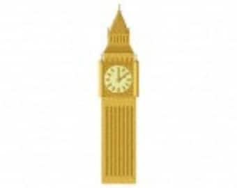 Big Ben Tower Machine Embroidery Design