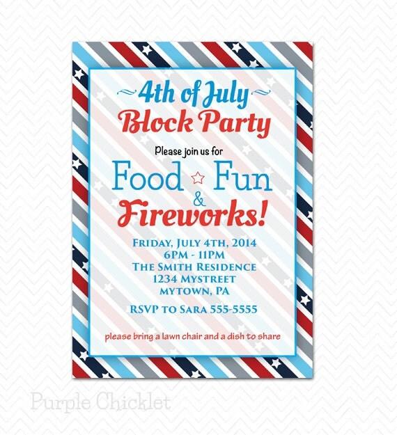 Block Party Invitation Wording for amazing invitation template