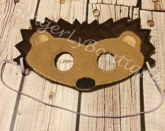 Felt Hedge Hog Mask