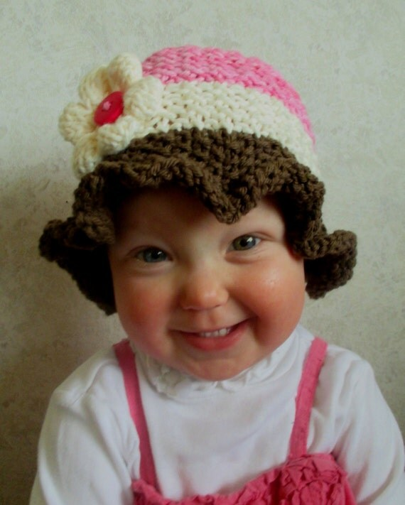 Knitting Pattern For Baby Summer Hats : Baby Sun Hat Pattern - KNITTING PATTERN pdf Baby Sun Hat - Knit baby Hat - Kn...