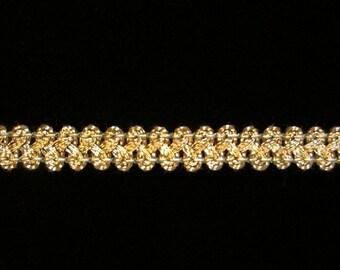 """630.2 Metallic gimp trim - """"Figure 8"""" antique-gold 3/8"""" (9mm)"""