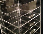 Clear Acrylic Makeup Organizer Clear Cube Cosmetic Storage 5 Drawers