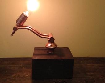 Repurposed Vintage Lamp. Industrial Design Gadget