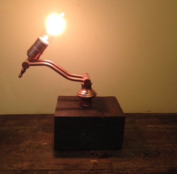 Vintage And Industrial Lighting From Etsy: Items Similar To Repurposed Vintage Lamp. Industrial