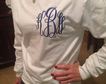 Monogrammed Long sleeve t shirt, Women's
