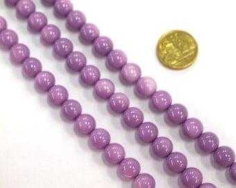 1 x 40cm Opaque Glass Bead Strand x 10mm beads #RV36