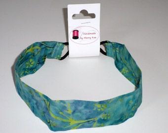 Handmade Hair Accessories Bali Batik Headband Women Headband No-slip Headband Green / Blue Turquoise Headband