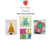 Sew Very Christmas : Paper Piecing PDF Download pattern pack Seasons Greetings!