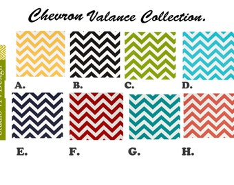 Chevron Valance.Kitchen valance Chevron Valance Curtain Valance Custom Valance Yellow valance