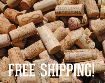 100 Premium Used Wine Corks for Crafting - Top Rated Natural Corks from Many Vineyards