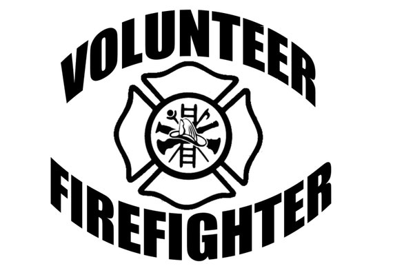 Volunteer Firefighter Emblem Items similar to Volun...