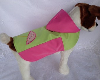 Personalized Appliqued Waterproof Two Colored Raincoat for dogs