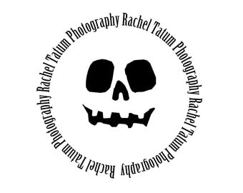 "Custom Premade Photography Logo and Watermark ""Pumpkin Head"" - Limited Quantity and Special Edition Logo"