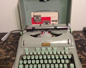 Beautiful Hermes 3000 Portable Typewriter // New Ink Installed // With Case + Extras