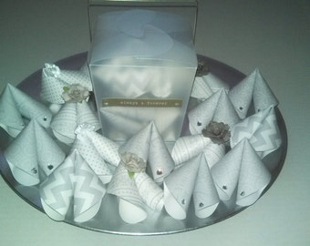 Wedding Fortune Cookie Party Favors w/ Take Out Box (25)