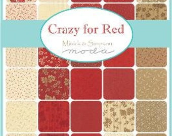 Crazy for Red by Minick and Simpson - 40 x FQ Bundle