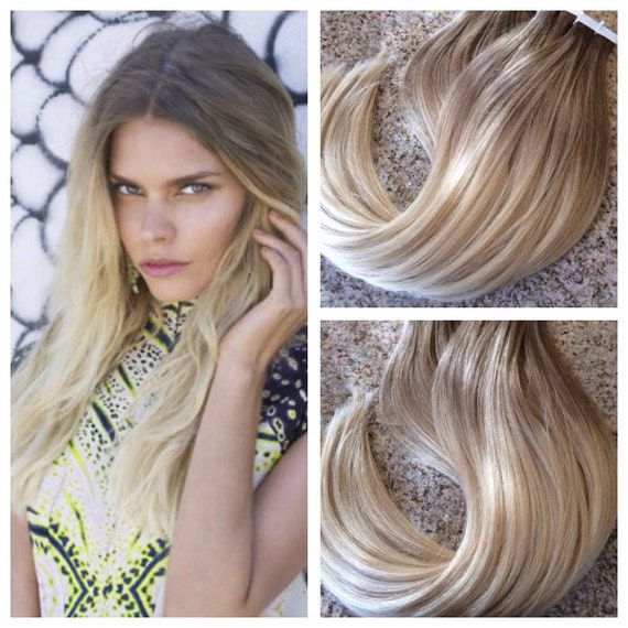 Star ombre cuticle remy human hair keratin fusion tape in