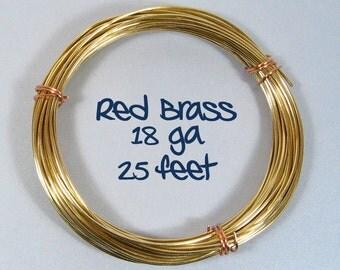 18ga 25ft DS Red Brass Wire