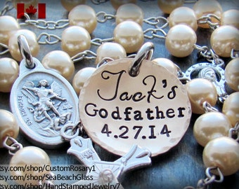 Baptism Boy Rosary, Personalized Rosary, Baptism Gift, Christening Gift, Rosary, Christening Rosary