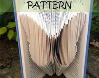 Book folding Pattern: BUTTERFLY design (including instructions) – DIY gift – Papercraft Tutorial