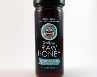 Raw BUCKWHEAT Honey - Hand-Poured, 100% Pure & All-Natural (12 oz)