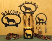 Bullmastiff  Welcome Sign, Time for A Walk Leash Hook, Key Rack, Candle Holder for Yankee Type Jar Candles