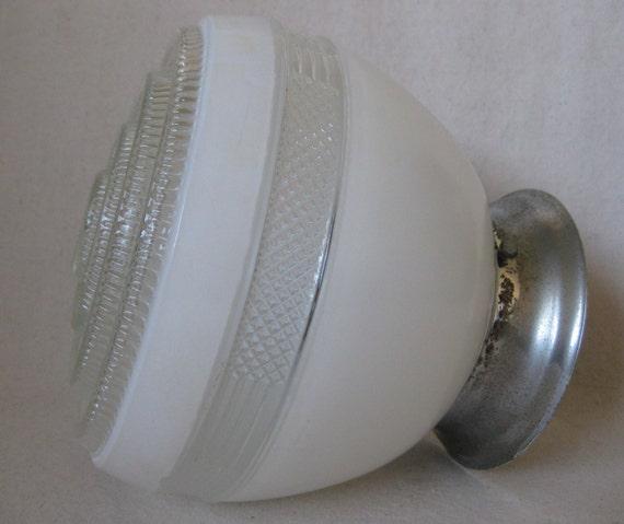 Mid Century Bathroom Light Fixtures: Mid Century Glass Ceiling Light Fixture By IrwinStMercantile
