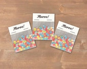 Hurra - 3 little bags of confetti - perfect for decorating a present