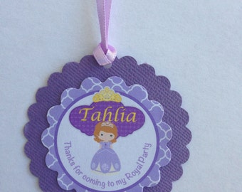 Pretty Princess Personalised Thank You Tags