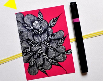 Map postal 'Nature Pink': pink and black...