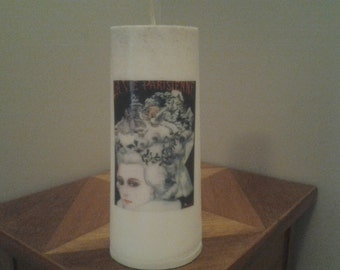 Indian Vanilla Essential Oil, Soy Pillar Candle
