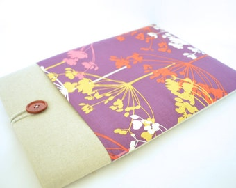 "Purple Laptop Sleeve 14"" Laptop Case 15.6"", 13.3"" MacBook Laptop, Floral Computer Case Gift for Her"