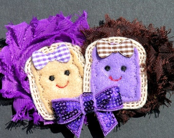 Peanut Butter and Jelly headbands