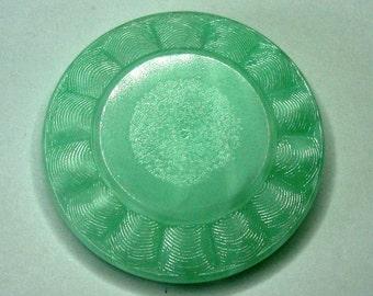 Large Czech Glass Button 41mm - ocean green (B41012)