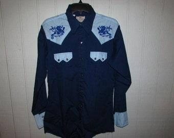 Vintage Dee Cee Brand Western Shirt Size 15.5-33