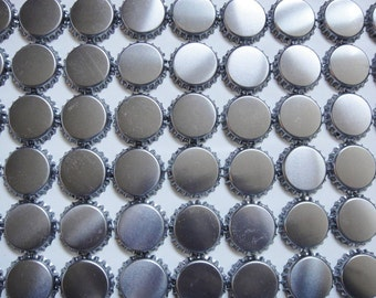 100 Silver Chrome Linerless CROWN Bottle Caps