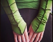 Pixie Leaf cuffs, sleeves, armwarmers