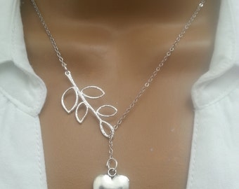 Lariat Style Heart necklace