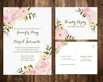 Floral Wedding Invitations Canada Vintage Floral Wedding Invitations Blush Floral Invitations