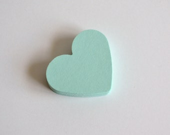 mint heart die cuts, mint heart confetti, mint heart wedding confetti, paper mint hearts- 30 pieces