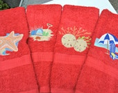 Personalized Hand Towel Beach Set, Custom Embroidery