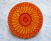 Sun Brooch - Shrink Plastic - Cute Sunshine Kawaii Badge