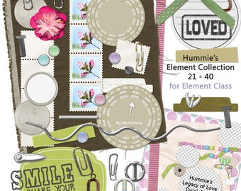 Digital Scrapbooking Element Collection 2