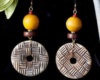 Decadent and Fun Earrings, like a lush piece of ripe fruit.