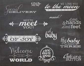 12 Baby Photo Overlays 1 - Newborn Phrases Word Photo Overlay - Text Photo Overlay - Quote Baby Newborn Photo Phrase NSTANT DOWNLOAD