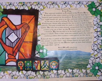 Irish Place Mats of Celtic Crystal Stained Glass Collection-