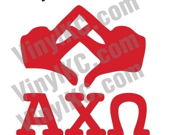 alpha chi omega hand sign decal axo sticker decal buy 2 get 1 free super cute