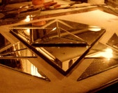 custom sacred geometry hand cut mirror