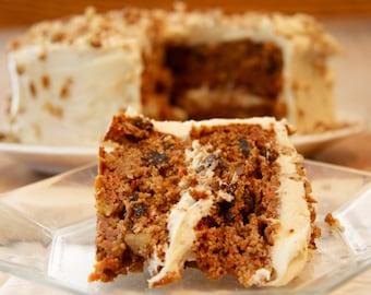Gluten-Free Carrot Cake with Honey Pineapple Cream Cheese Frosting {Recipe}, Healthy Dessert Recipe, Gluten Free, Low Sugar, Sugar Free